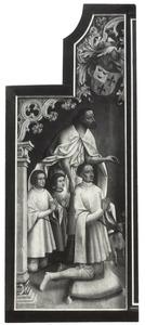 Johannes de Doper met stichter Jan Colibrant en zijn zonen