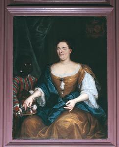 Portret van Anna Margaretha Josepha van Renesse (1703-1775), met een bediende