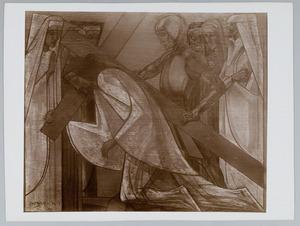 Derde Kruiswegstatie. Jezus valt de eerste maal onder het kruis