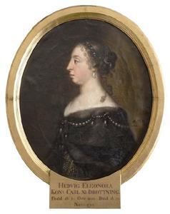 Portret van Hedvig Eleonora (1636-1715)