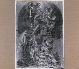 Christus verschijnt aan de Heilige Rochus en de pestlijders