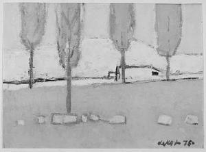 Bomen voor heuvel