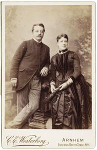 Portret van Ferdinand Folef baron d' Aulnis de Bourouill (1850-1925) en Susanna Christina Hiddingh (1859-1936)