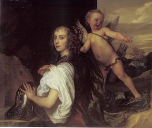 Portret van Margaret Lemon (?-?) als Erminia