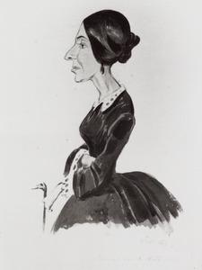 Portret van Agnes Marie Gerardina Snouckaert van Schauburg (1811-1886)