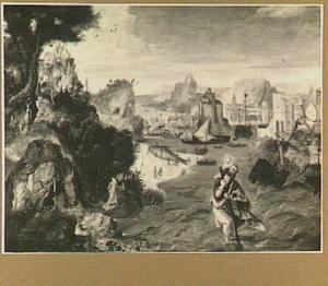 Kustlandschap met de H. Christoforus