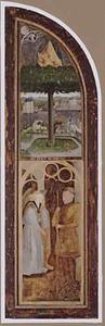 Het brandende braambos (boven); Gideon en de engel (beneden)