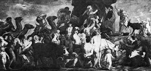 Mozes slaat water uit de rots (Exodus 17:1-7)