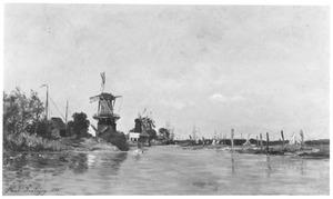 Rivierlandschap bij Dordrecht