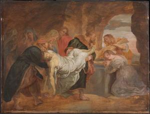 De graflegging van Christus (Marcus 15: 46-47)
