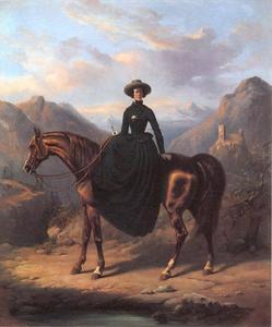 Portret van Alexandrine Pieternella Françoise Tinne (1835-1869)