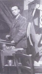 Albert Coste in zijn atelier