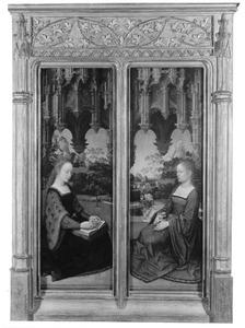 Een vrouwelijke heilige (links); de H. Maria Magdalena (rechts)
