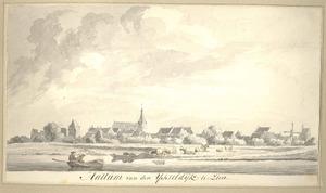 Gezicht op de stad Hattem vanaf de IJsseldijk