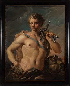 David met het hoofd van Goliath (1 Samuel 17)