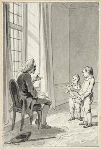 Illustratie voor 'Een godsdienstige jeugd' in de Kleine gedichten voor kinderen door H. van Alphen