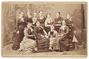 Portret van een groep meisjes