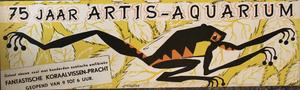 Artis-Aquarium-Tram-Affiche: '75 jaar Artis-Aquarium'