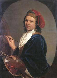 Zelfportret van Kupetzky op jeugdige leeftijd