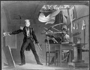 J.C.J. van Speyk vuurt in de kruidkamer aan boord van Zr. Ms. kananneerboot no. 2, liggende voor Antwerpen, 5 februari 1831