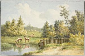 Hertenpark (bij een buitenplaats?)