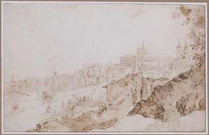 Romeins capriccio met rechts de S. Giovanni in Lateranen