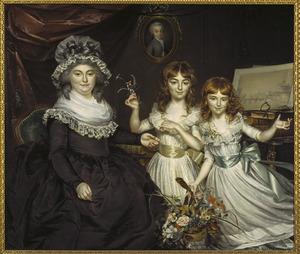 Portret van Theodora Frederica de Malnoë (1756-...), Marie Uranie Willer (1786-1820) en Jeanne Théodore Willer (1787-...)