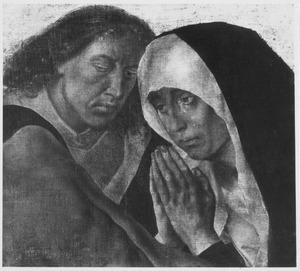 Fragment van een bewening in halffiguur: Maria en Johannes