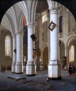 Interier van de Nieuwe Kerk in Delft