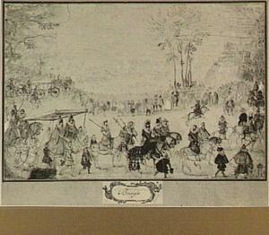 Intocht van aartshertog Albert en aartshertogin Isabella Clara Eugenia in een stad in de Zuidelijke Nederlanden