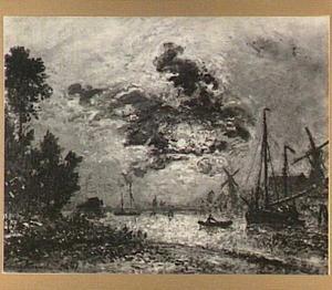 Dordrecht bij maanlicht
