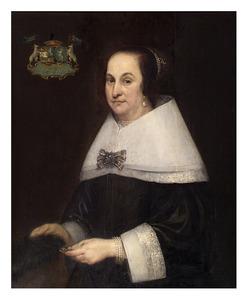 Portret van Tanneken Geleyns Boer gez. Schot (1602-1661)