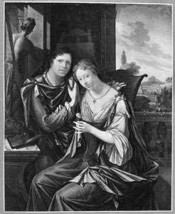 (Zelf)portret van een schilder met zijn echtgenote?