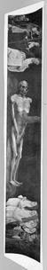 Het lijk van Adam geflankeerd door de HH. Martinus van Tours en Augustinus en de stichters