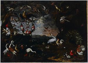 Vogelconcert: allegorie op de Orde der Malteser ridders