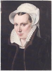 Portret van een onbekende 31-jarige vrouw