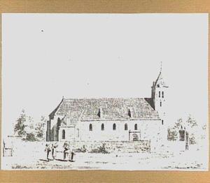De hervormde kerk te Echteld, gezien vanuit het noorden
