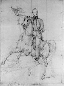 Portret van koning Willem II (1792-1849) als prins van Oranje tijdens de Slag bij Waterloo (1792-1849)