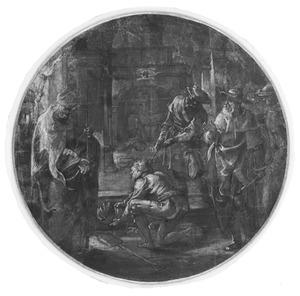 De opgraving van het lichaam van de H. Hubertus