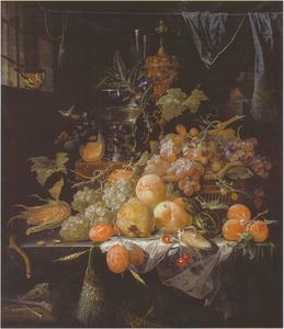 Vruchtenstilleven in een interieur