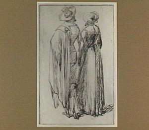 Man en vrouw, op de rug gezien