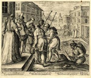 Een van de zeven werken van barmhartigheid: het herbergen van pelgrims (Matteus 25:35-36)