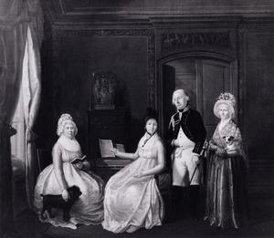 Portret van een onbekende familie