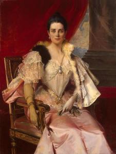 Portret van prinses Zinaida Nikolaevna Yusupova (1861-1939)