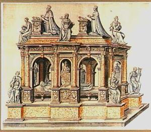 Ontwerp voor het graf Christiaan III van Denemarken