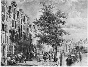 Leidsegracht te Amsterdam naar de Herengracht gezien