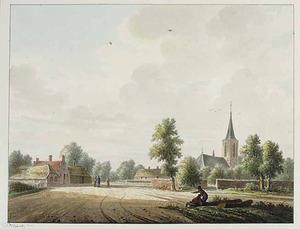 Landschap met gezicht in het dorp Rumpt