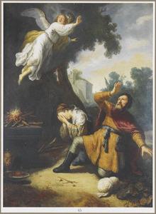 Het offer van Manoach en het vertrek van de engel (Richteren 13:19-20)