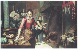 Twee vrouwen aan het werk in een rijk voorziene keuken