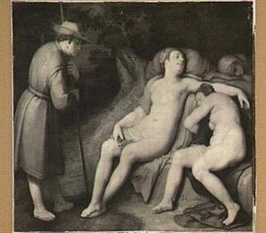 Cymon bespiedt de slapende Iphigenia (Bocaccio, Decamerone 5:1)